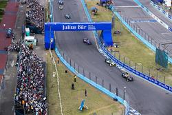 Jean-Eric Vergne, Techeetah. Lucas di Grassi, Audi Sport ABT Schaeffler. & Alex Lynn, DS Virgin Raci
