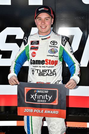 Christopher Bell, Joe Gibbs Racing, Toyota Camry GameStop TurtleBeach wins the pole