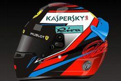 Helm van Kimi Raikkonen, Ferrari