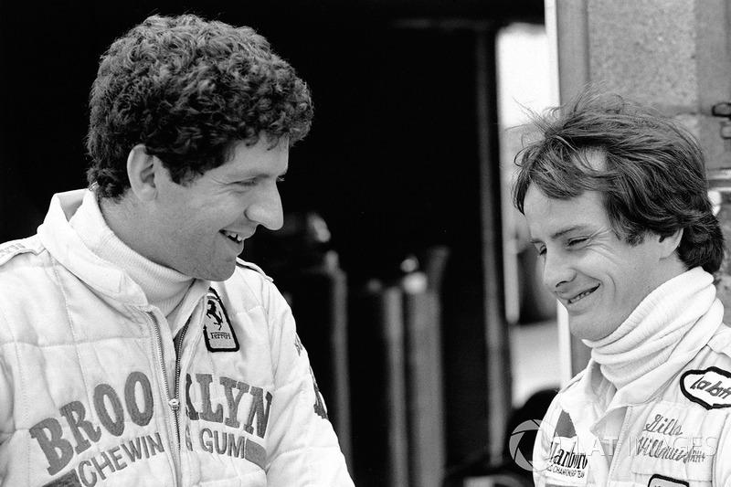 Jody Scheckter avec son coéquipier Gilles Villeneuve, Ferrari
