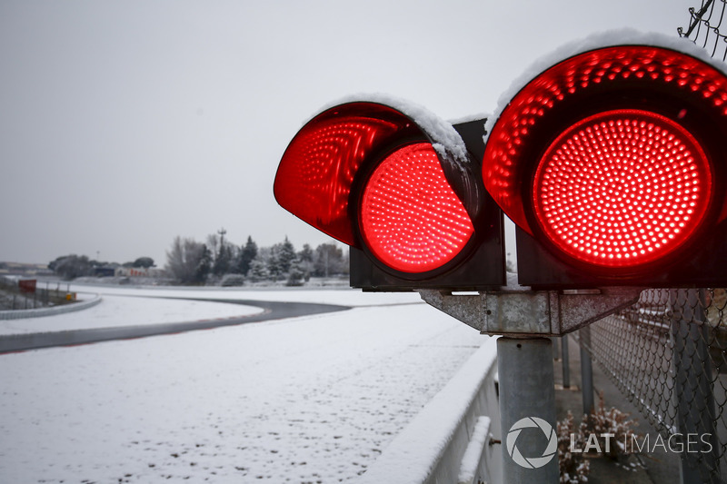 Red flags at the circuit until further notice due to the snow