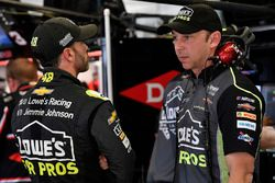 Jimmie Johnson, Hendrick Motorsports, Lowe's for Pros Chevrolet Camaro and crew chief Chad Knaus