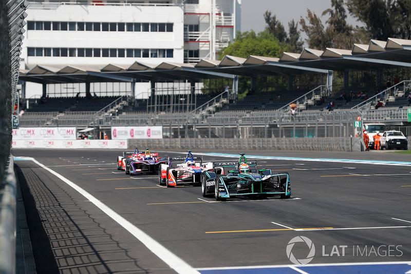 Nelson Piquet Jr., Jaguar Racing, Felix Rosenqvist, Mahindra Racing, Sam Bird, DS Virgin Racing