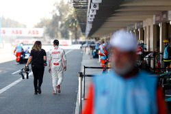 Jose Maria Lopez, Dragon Racing, walks down the pit lane