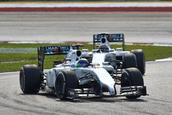 Felipe Massa, Williams FW36 Mercedes, devant Valtteri Bottas, Williams FW36 Mercedes