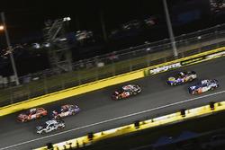 Kasey Kahne, Leavine Family Racing, Chevrolet Camaro Dumont Jets and Denny Hamlin, Joe Gibbs Racing, Toyota Camry FedEx Express
