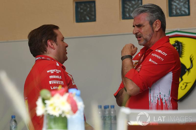 Maurizio Arrivabene, Ferrari y Gino Rosato, Ferrari