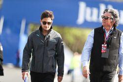Mitch Evans, Jaguar Racing, lors du trackwalk