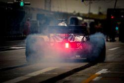 Lance Stroll, Williams FW41 Mercedes, in de pits