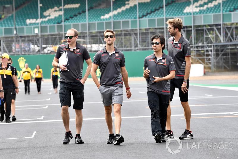 Ромен Грожан, Haas F1 гуляет по трассе