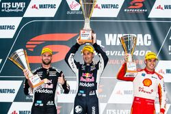 Podium: second place Shane van Gisbergen, Triple Eight Race Engineering Holden, winner Jamie Whincup, Triple Eight Race Engineering Holden, third place Scott McLaughlin, DJR Team Penske Ford
