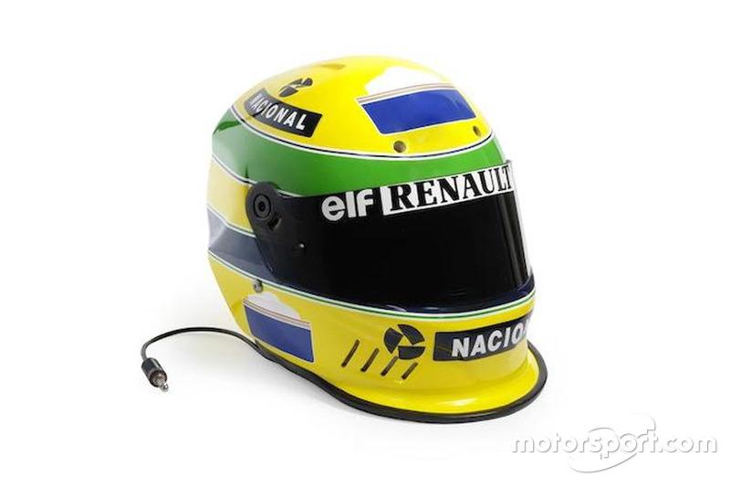 Detalhes do capacete de 1994 de Senna