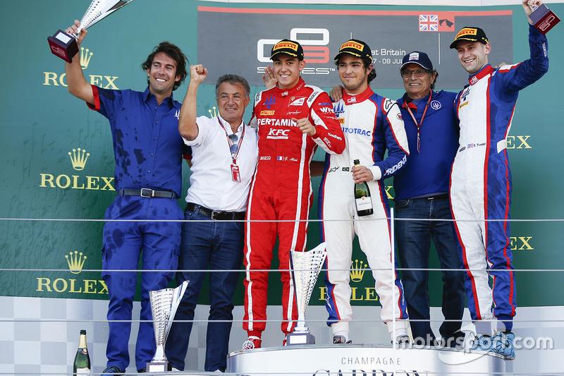 Podio: Pedro Piquet, Trident, Giuliano Alesi, Trident, Ryan Tveter, Trident
