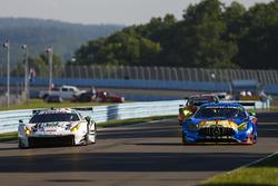 #63 Scuderia Corsa Ferrari 488 GT3, GTD: Cooper MacNeil, Gunnar Jeannette, Jeff Segal, #75 SunEnergy1 Racing Mercedes AMG GT3, GTD: Kenny Habul, Thomas Jäger, Mikael Grenier