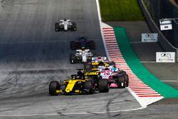 Nico Hulkenberg, Renault Sport F1 Team R.S. 18, Esteban Ocon, Force India VJM11, Carlos Sainz Jr., Renault Sport F1 Team R.S. 18, Sergio Perez, Force India VJM11, Charles Leclerc, Sauber C37