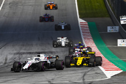 Lance Stroll, Williams FW41, Carlos Sainz Jr., Renault Sport F1 Team R.S. 18, Sergio Perez, Force India VJM11, Esteban Ocon, Force India VJM11, Pierre Gasly, Toro Rosso STR13