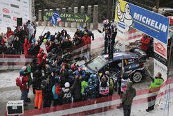 Racewinnaars Sébastien Ogier, Julien Ingrassia, Ford Fiesta WRC, M-Sport