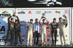 Podium ST: first place Derek Jones, Mat Pombo, MINI JCW Team, second place Jeff Mosing, Eric Foss, Murillo Racing, third place Nick Galante, Spencer Pumpelly, RS1