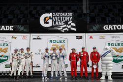 Podium GTLM: 1. Joey Hand, Dirk Müller, Sébastien Bourdais, Ford Performance Chip Ganassi Racing; 2.