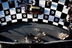 Podium ST: 1. Derek Jones, Mat Pombo, MINI JCW Team; 2. Jeff Mosing, Eric Foss, Murillo Racing; 3. N