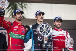 Podium: 1. Sébastien Buemi, Renault e.Dams; 2. Lucas di Grassi, ABT Schaeffler Audi Sport; 3. Nick Heidfeld, Mahindra Racing