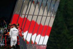 Derde plaats Daniel Ricciardo, Red Bull Racing Second place Sebastian Vettel, Ferrari, Race winnaar