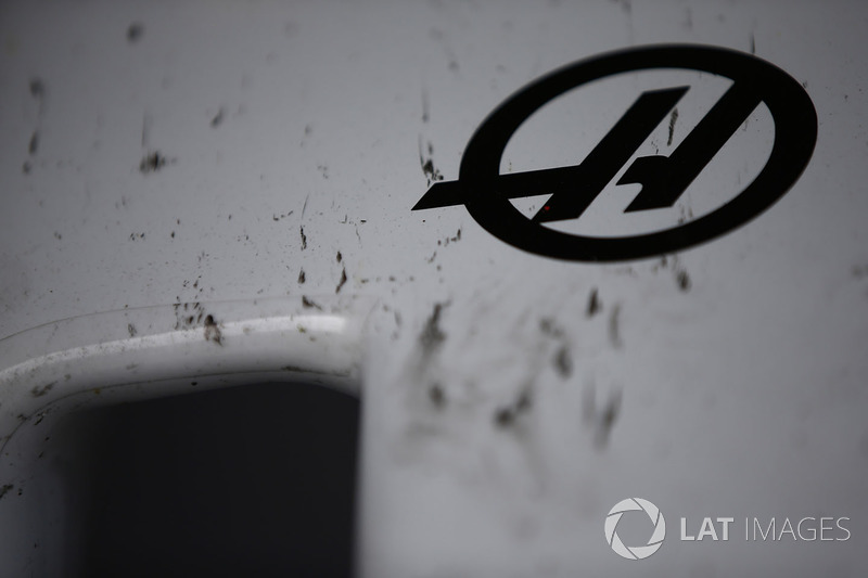 The nose of the Haas F1 Team VF-17