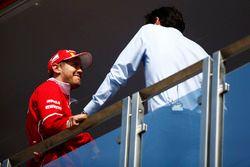 Sebastian Vettel, Ferrari, in the Ferrari hospitality unit