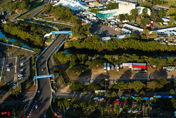 Una vista panorámica del circuito de calle de Townsville