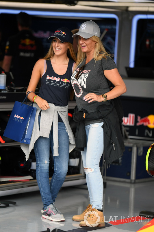 Guests in the Red Bull Racing garage