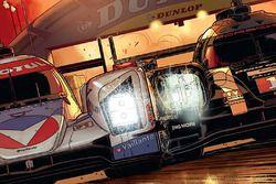 Sampul buku komik Michel Vaillant di Le Mans menampilkan tim Rebellion dan Porsche