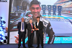 Akbar Ebrahim, FMSCI president, Jean Todt, FIA president, Armaan Ebrahim