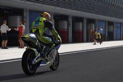 Valentino Rossi di pitlane Jerez