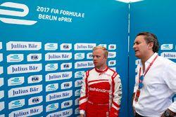 Felix Rosenqvist, Mahindra Racing, with Alejandro Agag, Formula E CEO