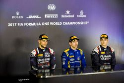 Press conference: race winner Nicholas Latifi, DAMS, second place Luca Ghiotto, RUSSIAN TIME, third