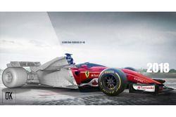 Ferrari 2018, shield, konsept tasarım 3D