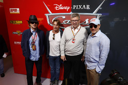 Ross Brawn, Managing Director of Motorsports, FOM, in the Cars 3 promotional garage, Actors Woody Ha
