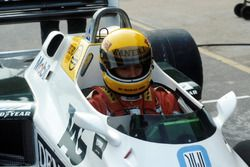 Ayrton Senna, prepares to make his first run in the Williams FW08C