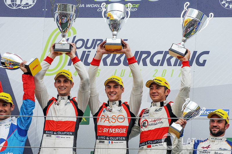 Podio LMP2 Podium: al primo posto Ho-Pin Tung, Oliver Jarvis, Thomas Laurent, DC Racing