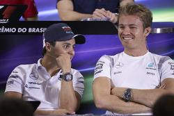 Felipe Massa, Williams, Nico Rosberg, Mercedes AMG F1 in the FIA Press Conference