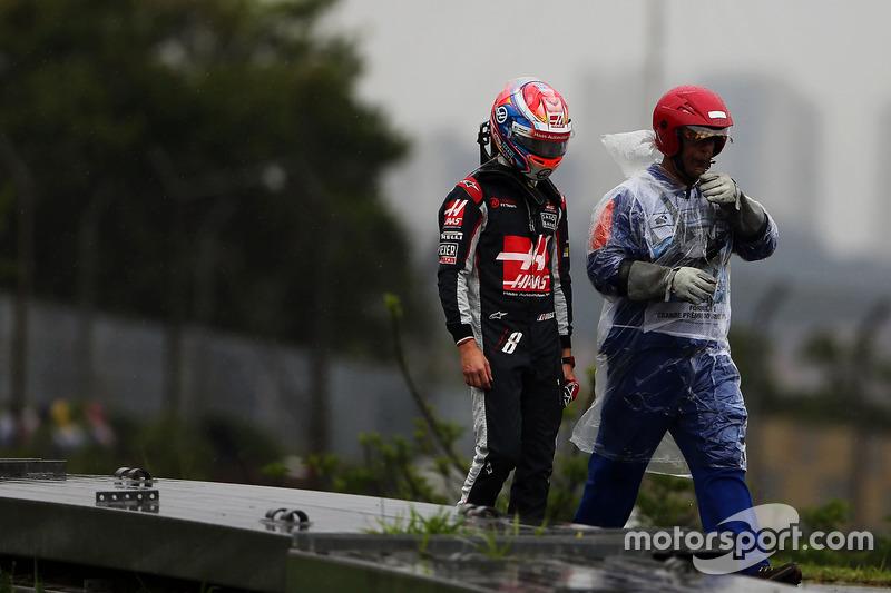 Grosjean non partant