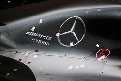 A Mercedes AMG F1 W07 Hybrid in parc ferme