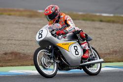 Marc Marquez on a historic 125cc RC142