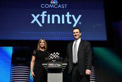 Jill Gregory, NASCAR Senior Vice President and Chief Marketing Officer, and Matt Lederer, Comcast Ex
