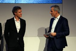 Jesse Krohn and Jens Marquardt, BMW Motorsport Director.