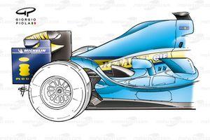 Renault F24 sidepod layout (blank cooling panels)