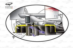 Detalle del doble difusor del Toyota TF109 2009