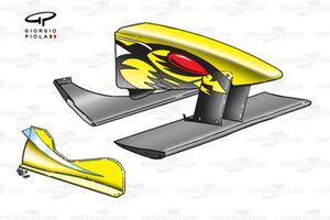 Jordan EJ10 2000 front wing assembly