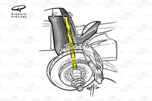 McLaren MP4-15 2000 driveshaft detail