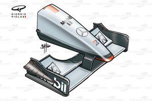 McLaren MP4-15 2000 San Marino front wing